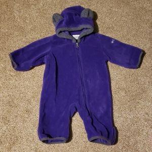 0-3 month baby girl fleece columbia suit